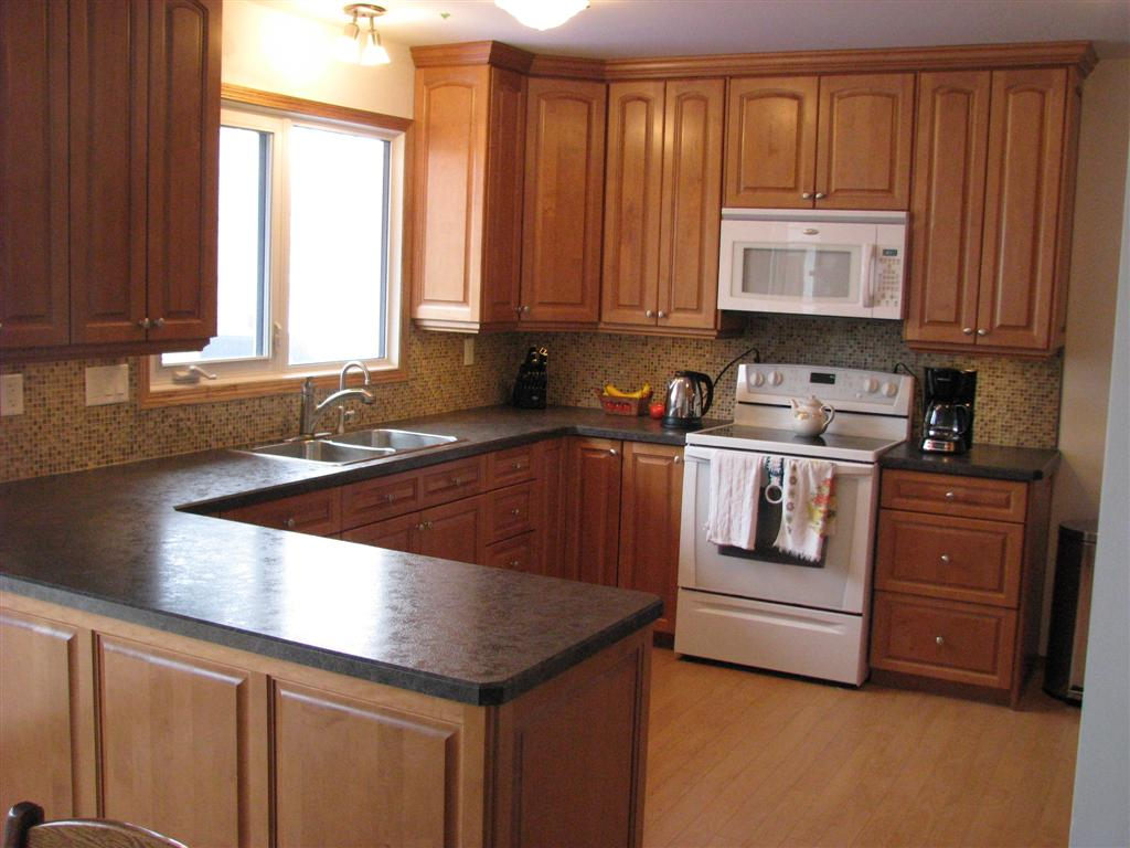 black kitchen cabinets with glass inserts photo - 6