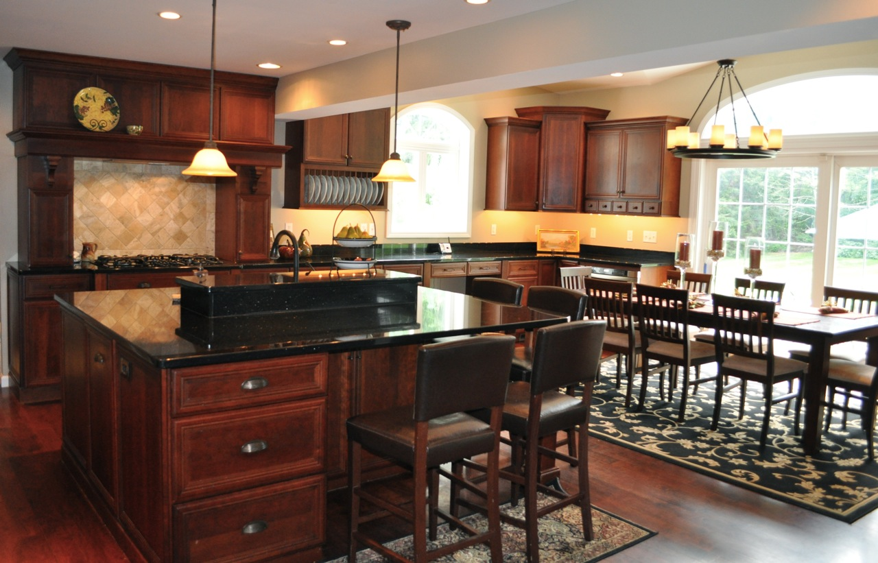 black kitchen cabinets with granite photo - 10