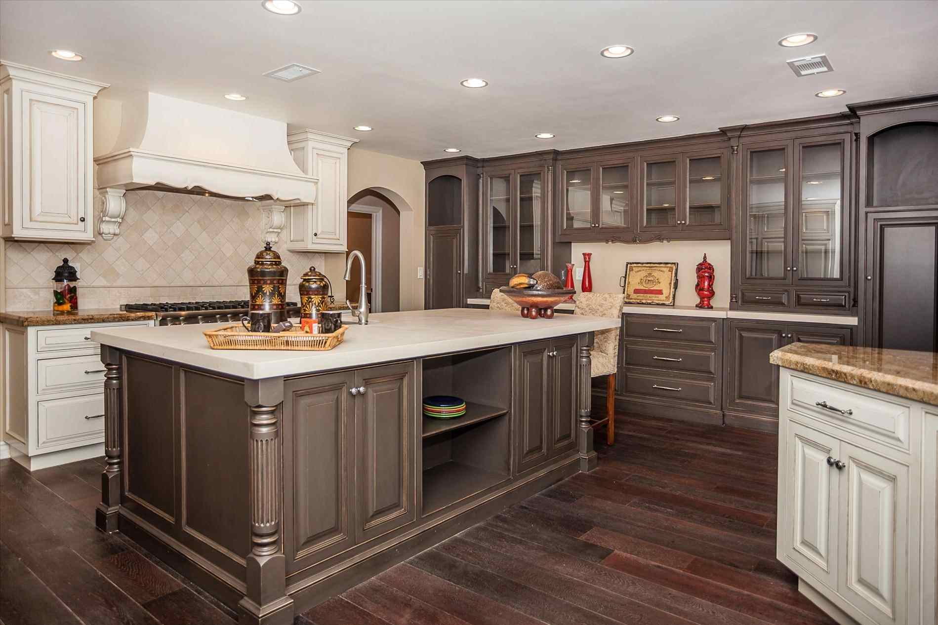 black kitchen cabinets with granite photo - 7