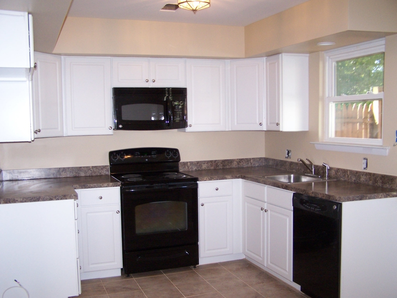 Kitchen Design White Appliances Dark Cabinets Kitchen Cabinet Ideas