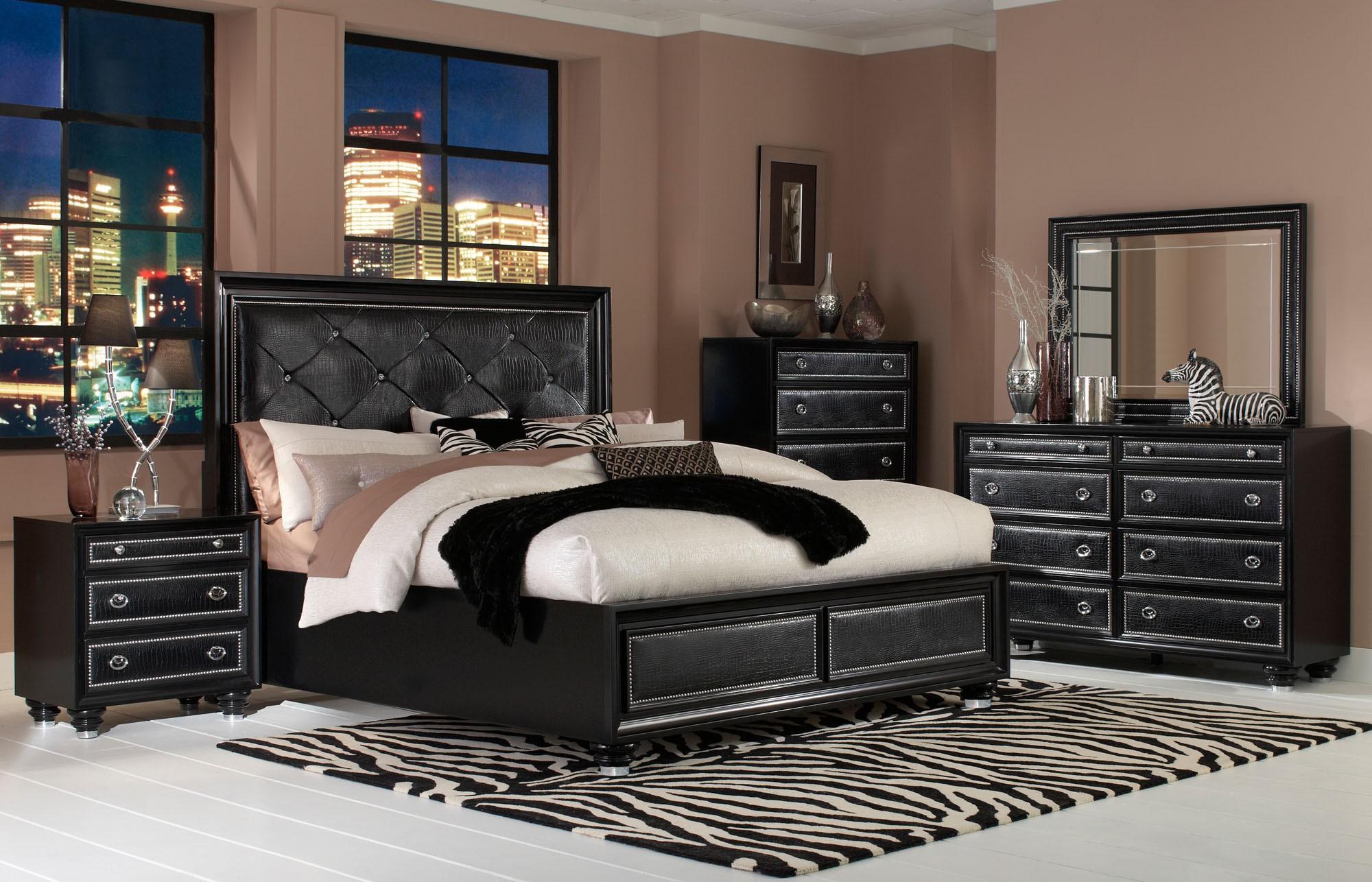 Black leather bedroom furniture | Hawk Haven