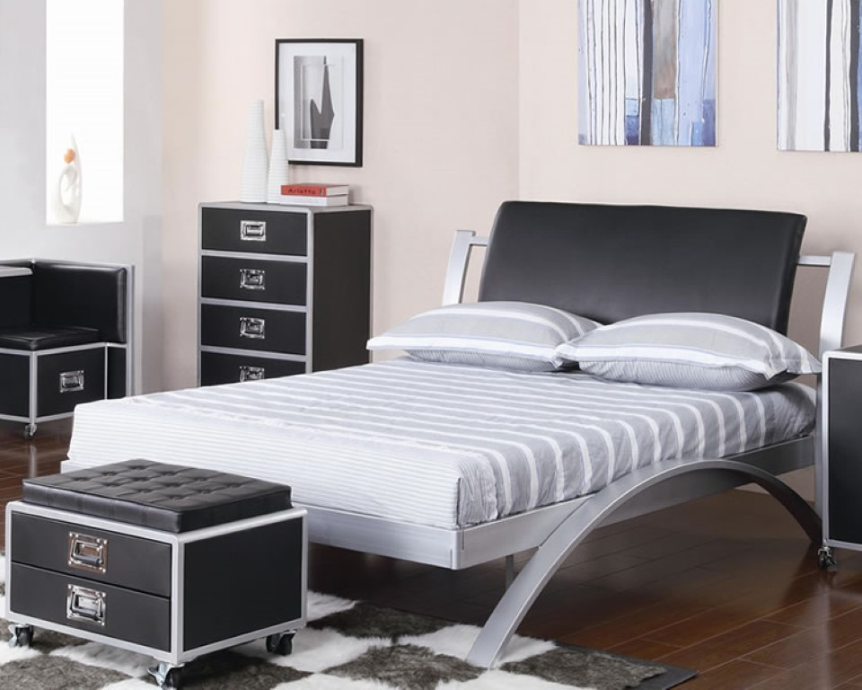 black metal bedroom furniture photo - 4