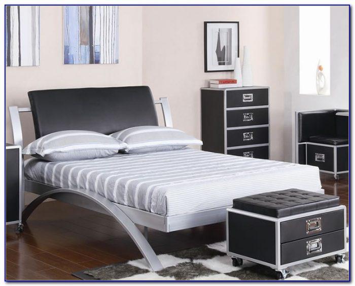 black metal bedroom furniture photo - 7