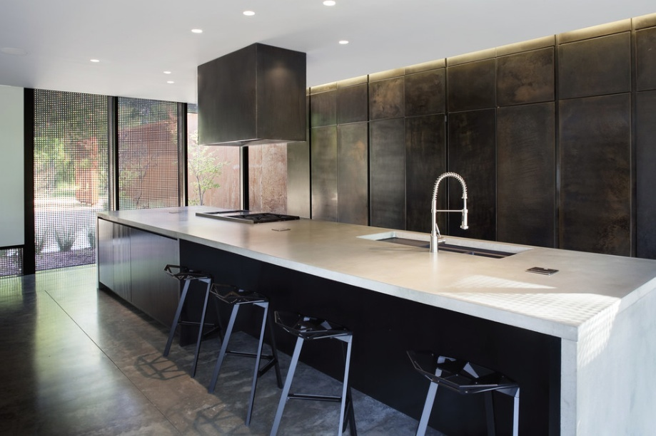 black metal kitchen cabinets photo - 1