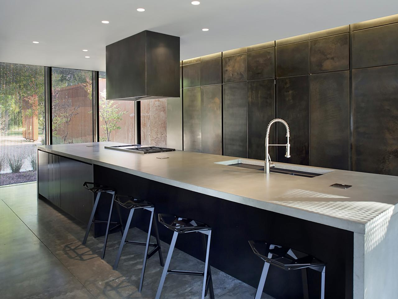 black metal kitchen cabinets photo - 10