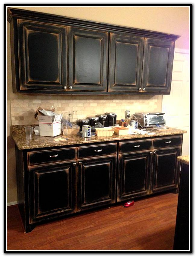 black metal kitchen cabinets photo - 4