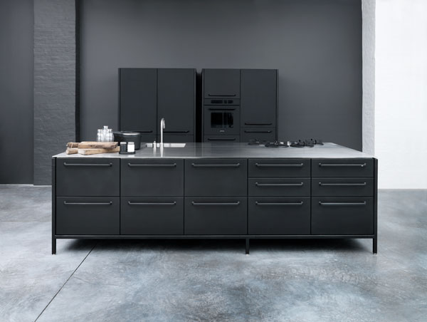 black metal kitchen cabinets photo - 5
