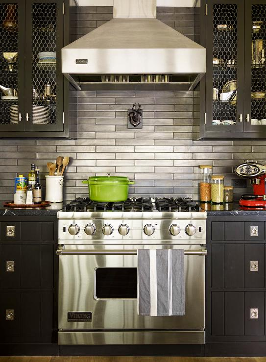 black metal kitchen cabinets photo - 6