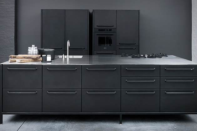 black metal kitchen cabinets photo - 8