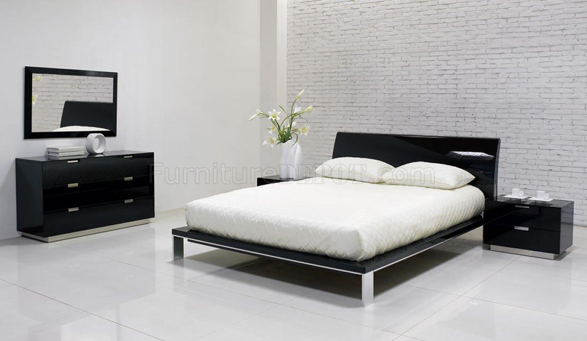 black modern bedroom furniture photo - 3