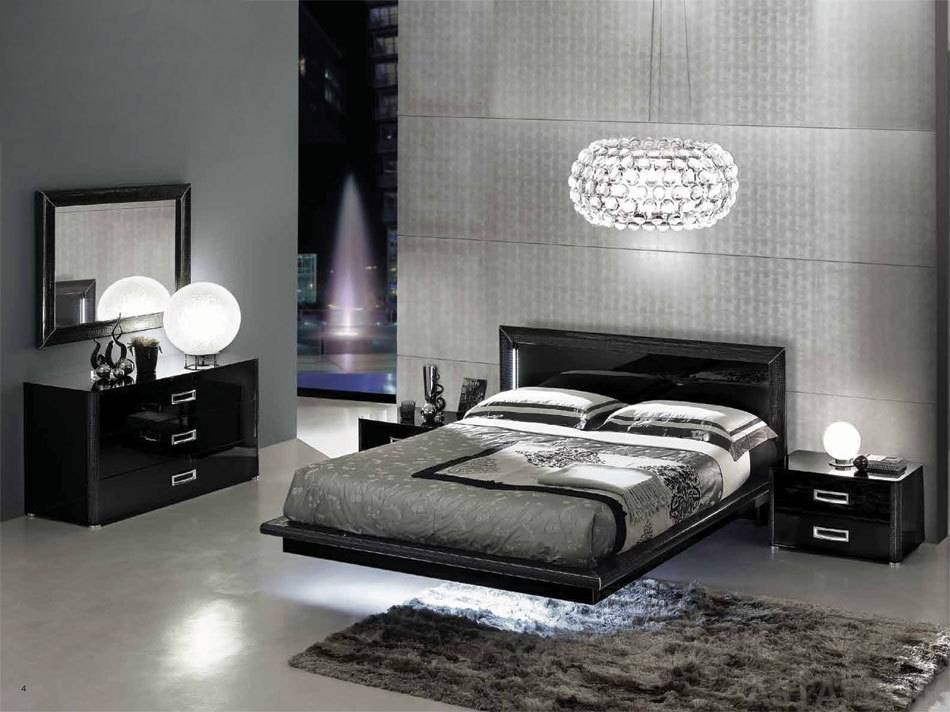 black modern bedroom furniture photo - 4