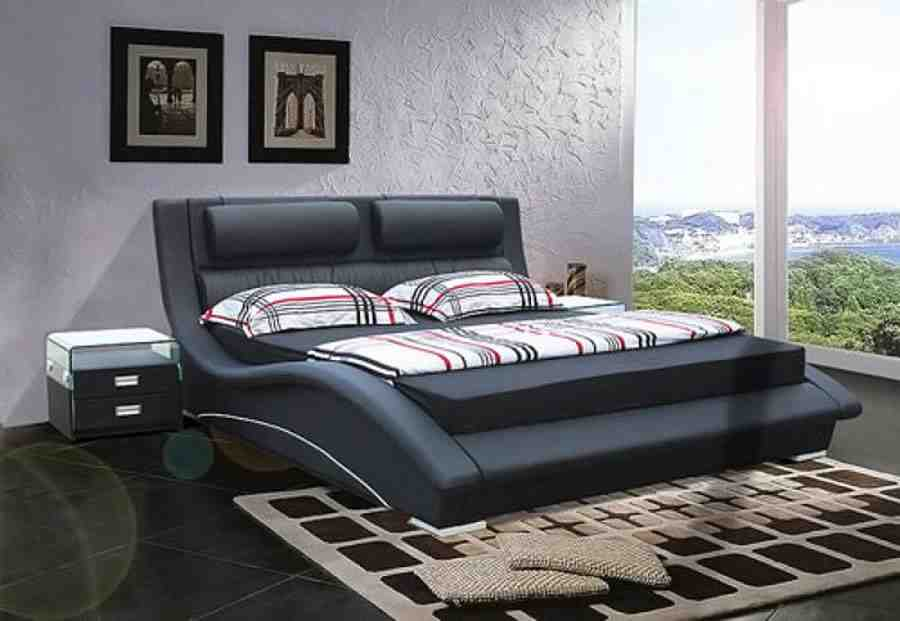 black modern bedroom furniture photo - 5