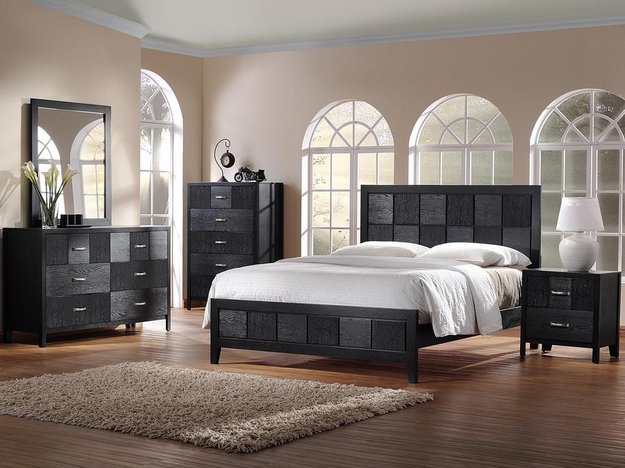 black modern bedroom furniture photo - 7