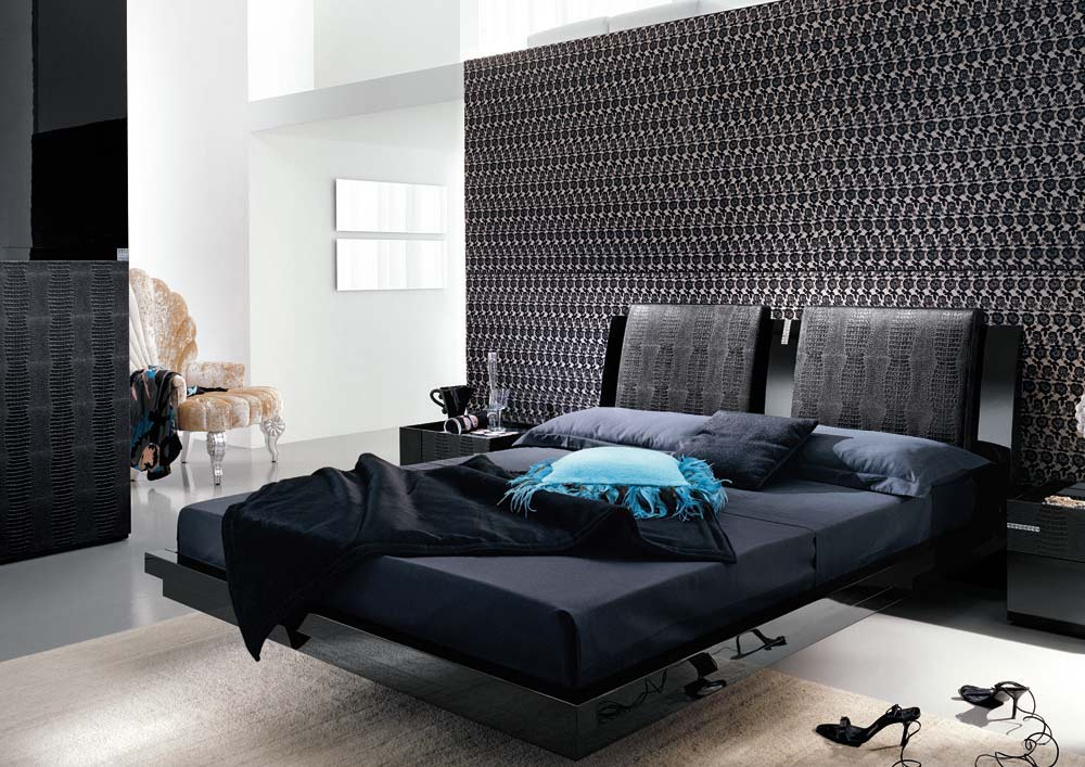 black modern bedroom furniture photo - 8