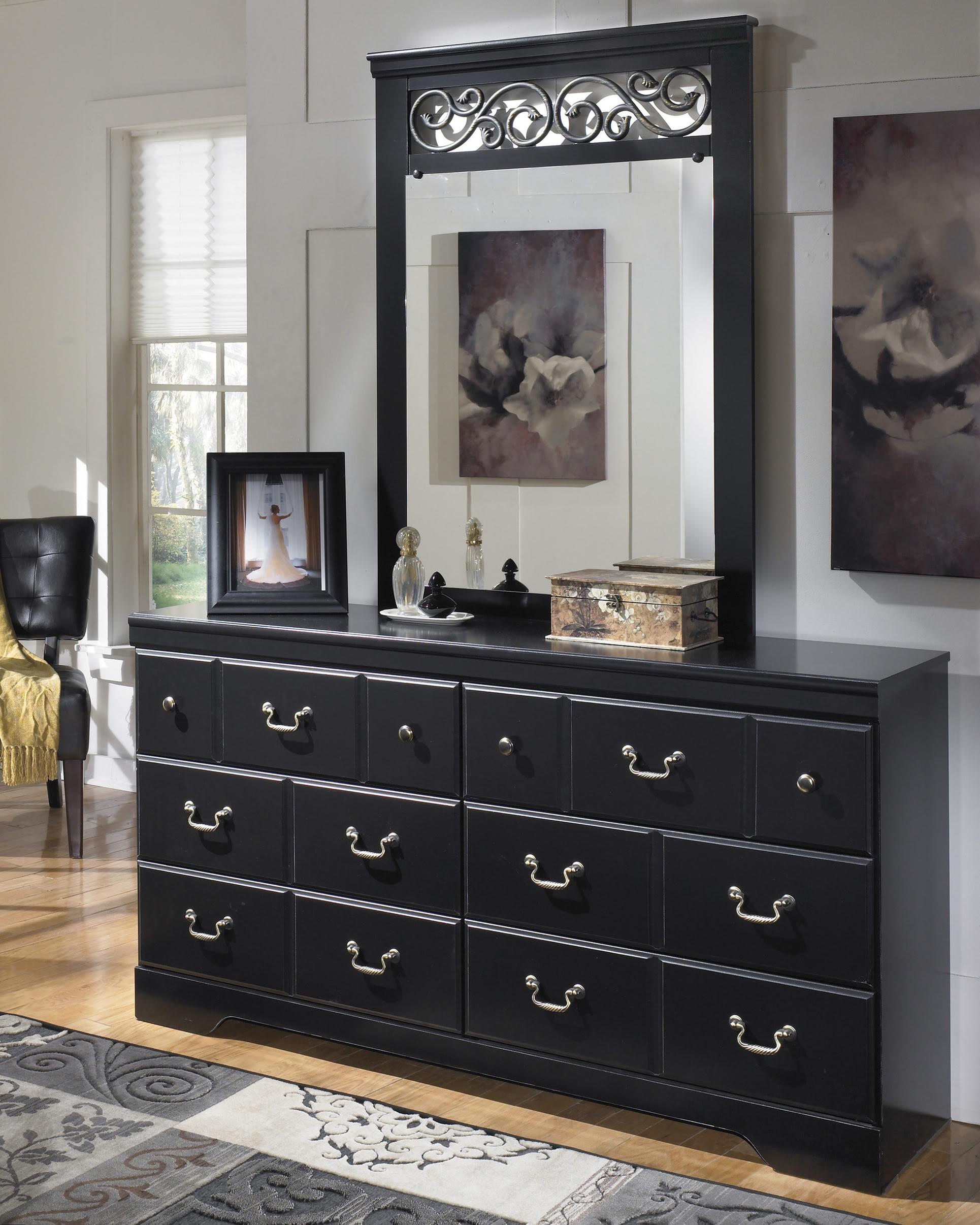 black ornate bedroom furniture photo - 2