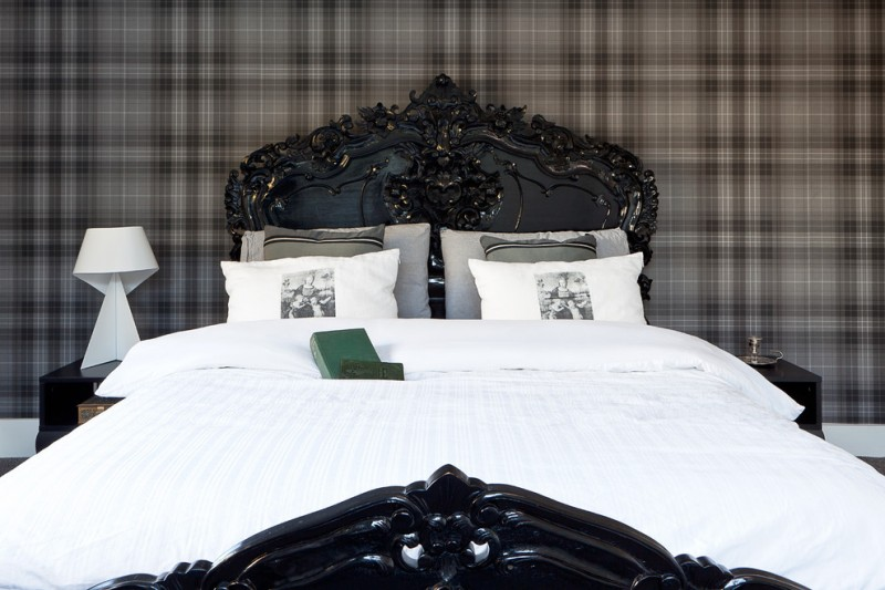 black ornate bedroom furniture photo - 4