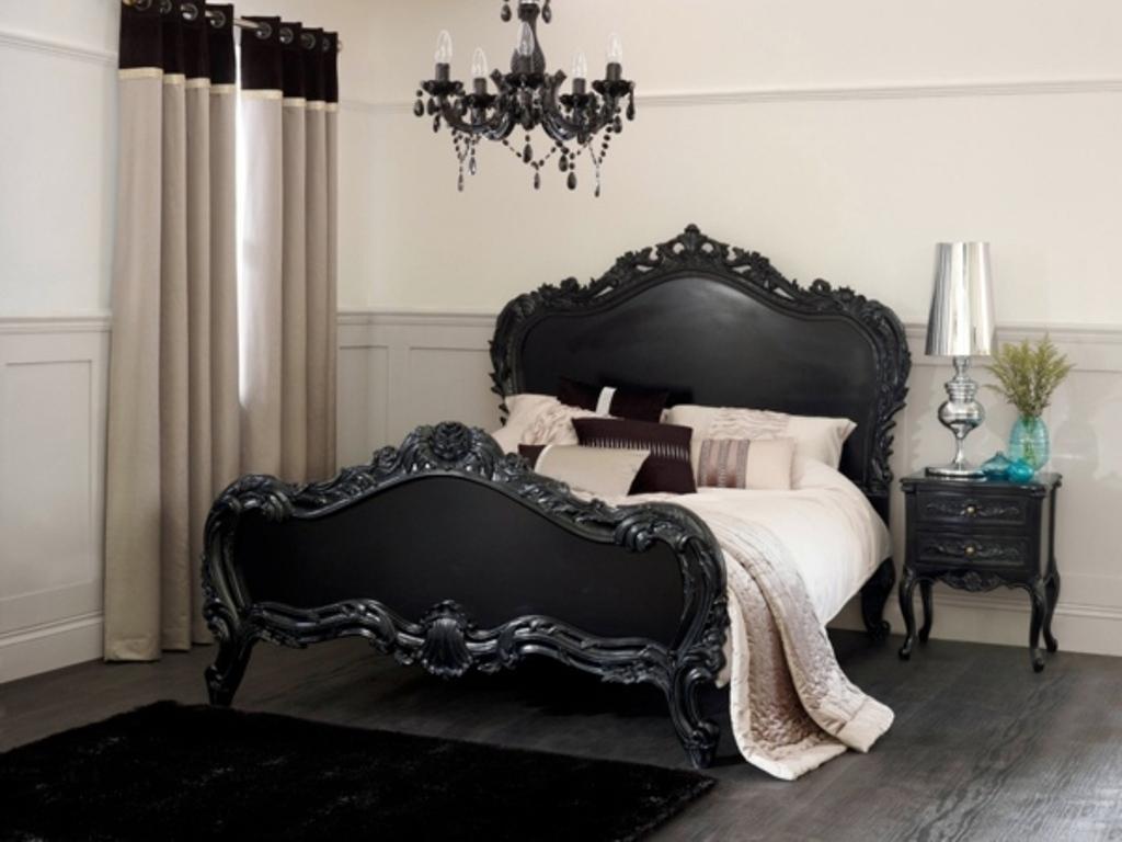 black ornate bedroom furniture photo - 5