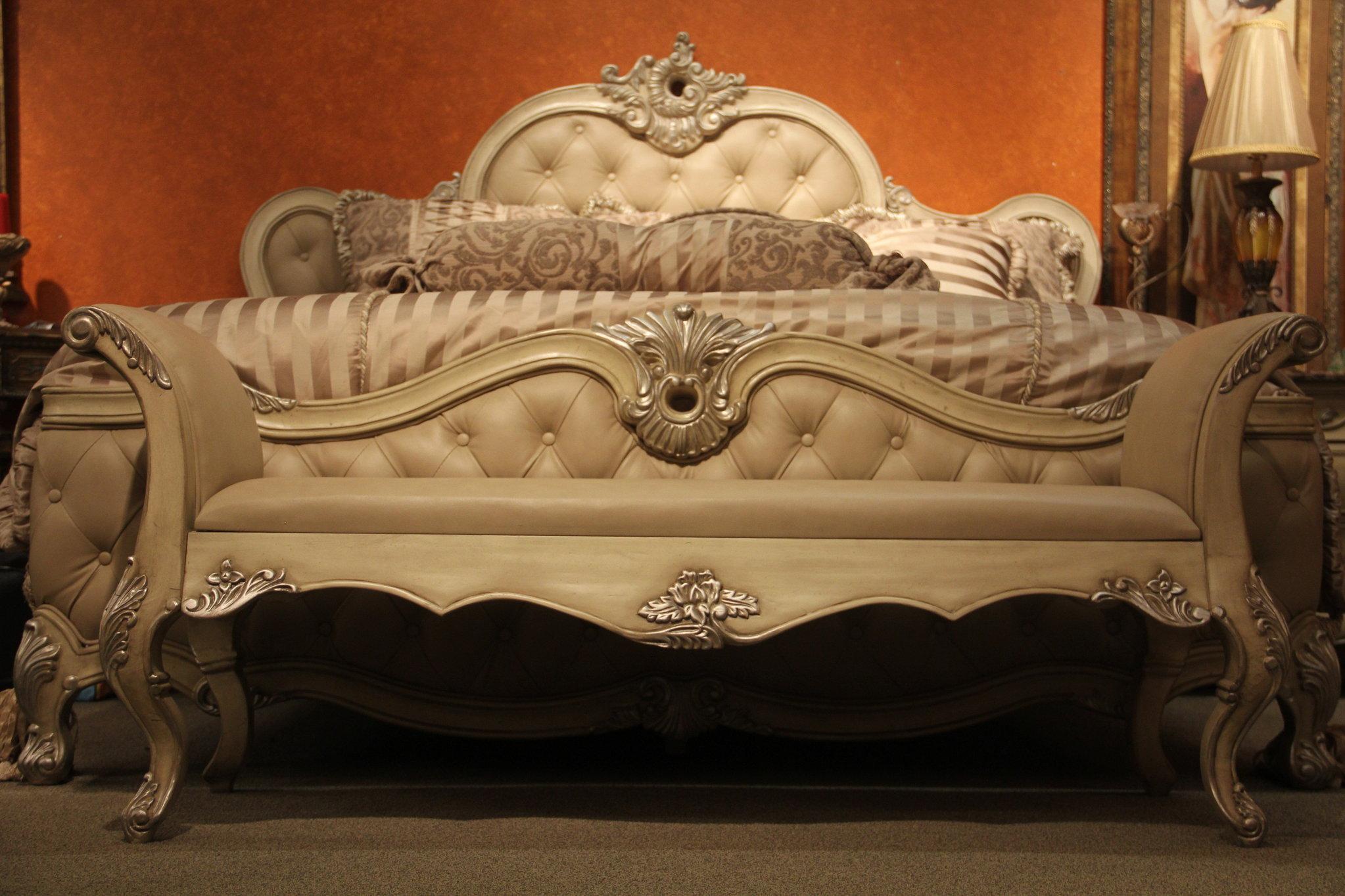 black ornate bedroom furniture photo - 7