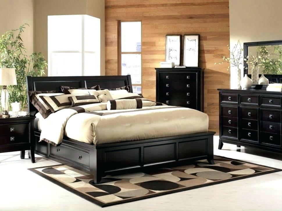 black oversized bedroom furniture photo - 2