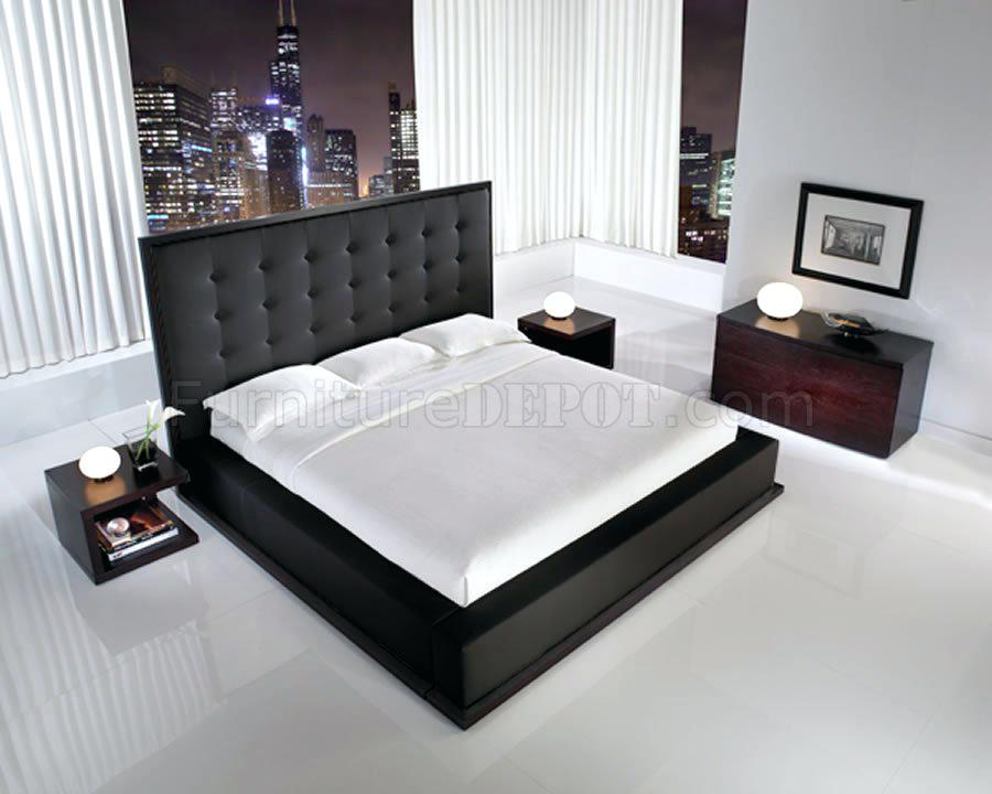 black oversized bedroom furniture photo - 5