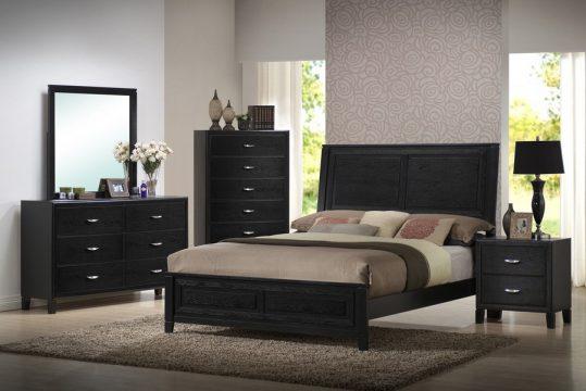 black oversized bedroom furniture photo - 7