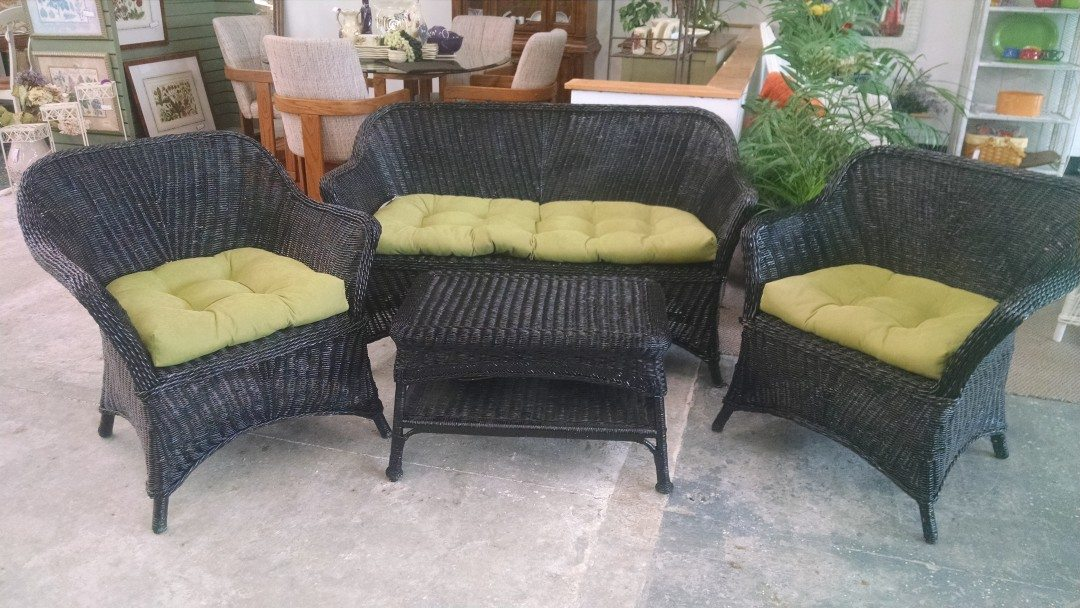 black rattan bedroom furniture photo - 10