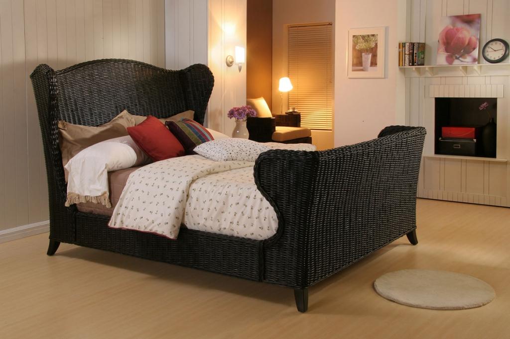 black rattan bedroom furniture photo - 2