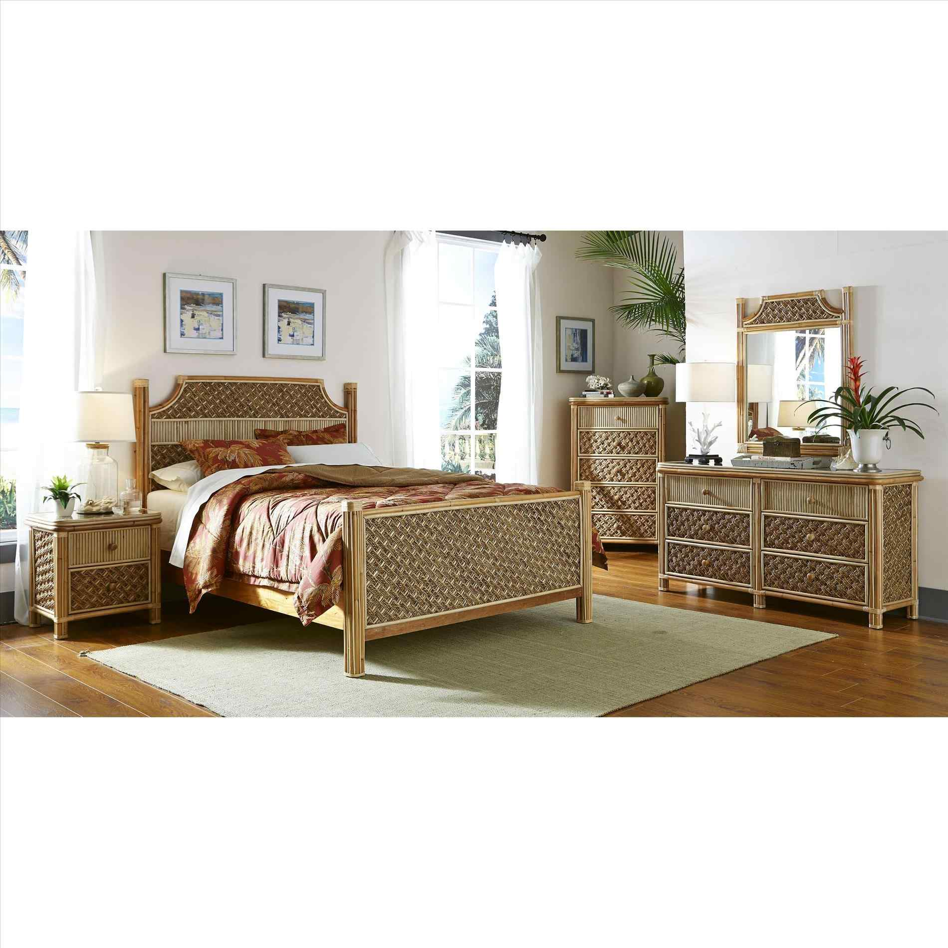 black rattan bedroom furniture photo - 6