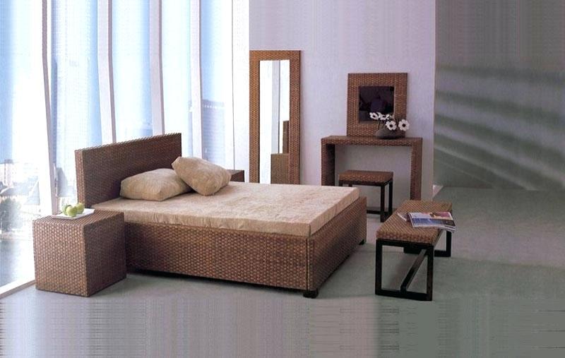 black rattan bedroom furniture photo - 8