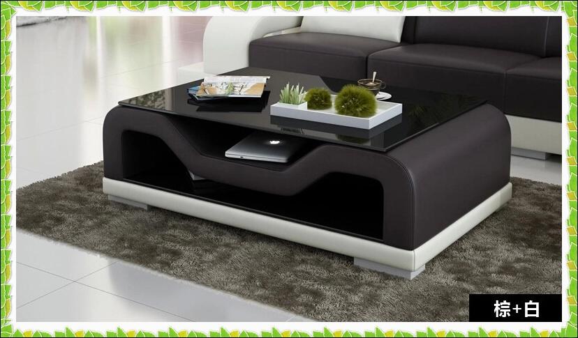 black sofa white coffee table photo - 1