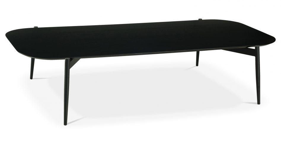 black sofa white coffee table photo - 3