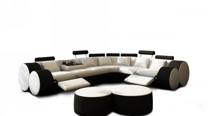 black sofa white coffee table photo - 6