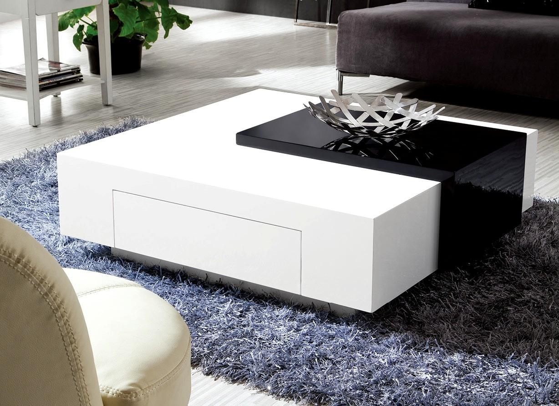 black sofa white coffee table photo - 8