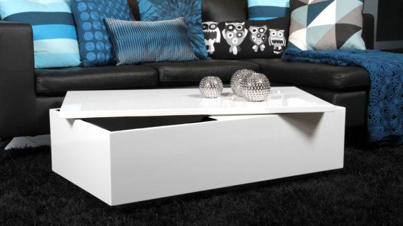 black sofa white coffee table photo - 9