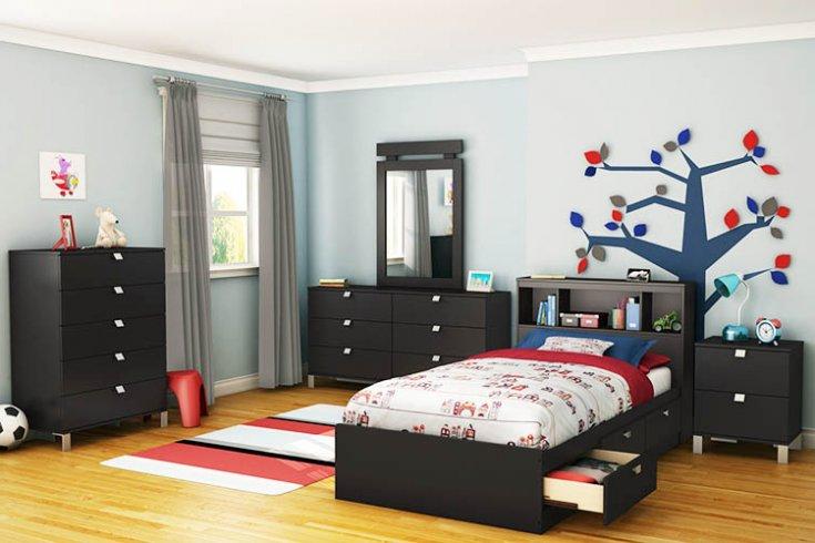 black toddler bedroom furniture photo - 2