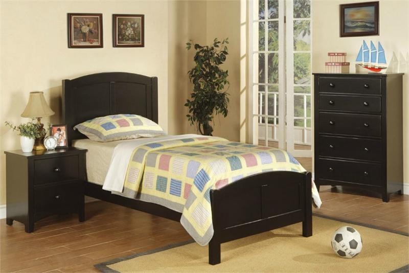 black twin bedroom furniture sets photo - 6