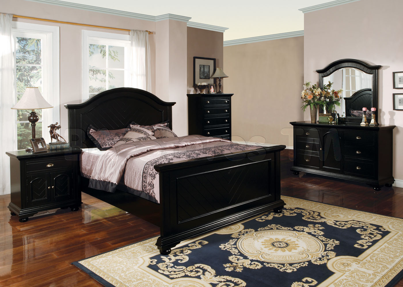 black twin bedroom furniture sets photo - 8