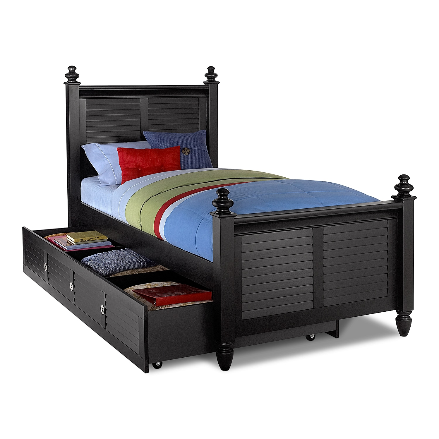 black twin beds for kids photo - 1