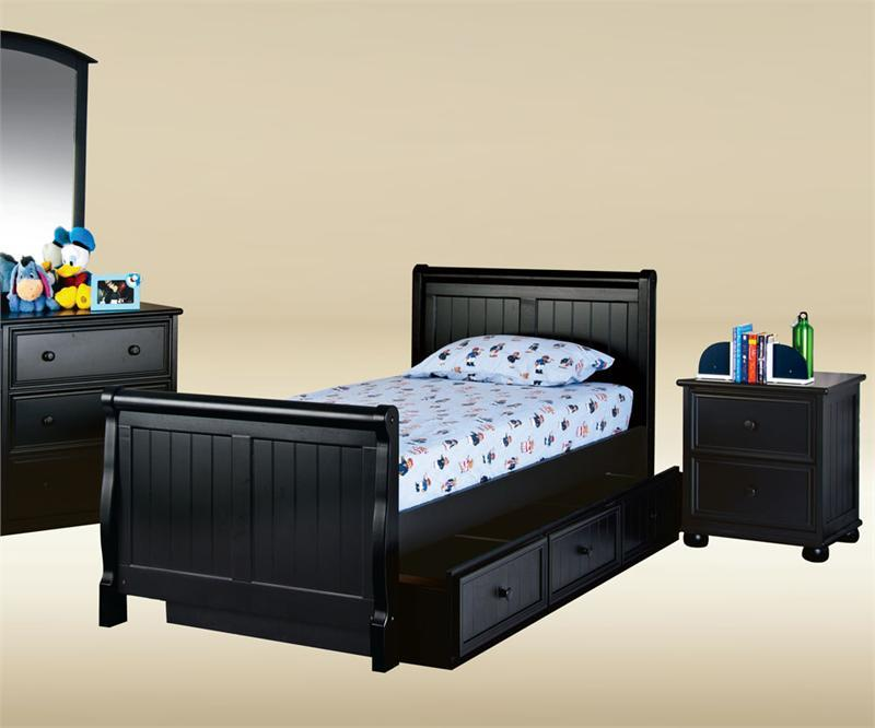 black twin beds for kids photo - 5