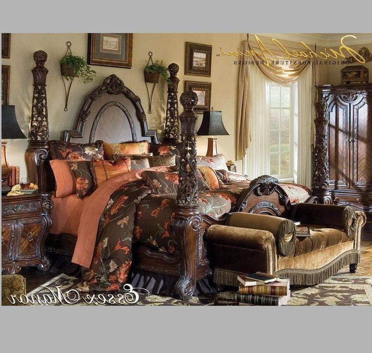 black victorian bedroom furniture photo - 6