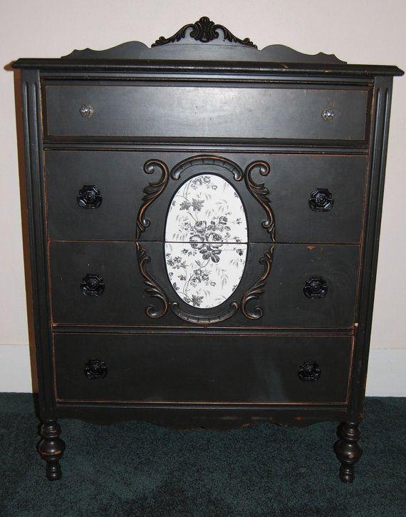 black victorian bedroom furniture photo - 7
