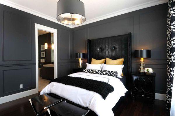 black yellow bedroom design photo - 10
