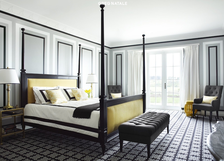 black yellow bedroom design photo - 4