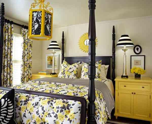 black yellow bedroom design photo - 5