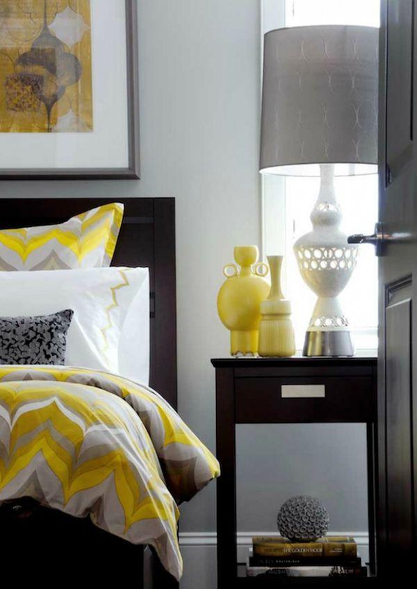 black yellow bedroom design photo - 7