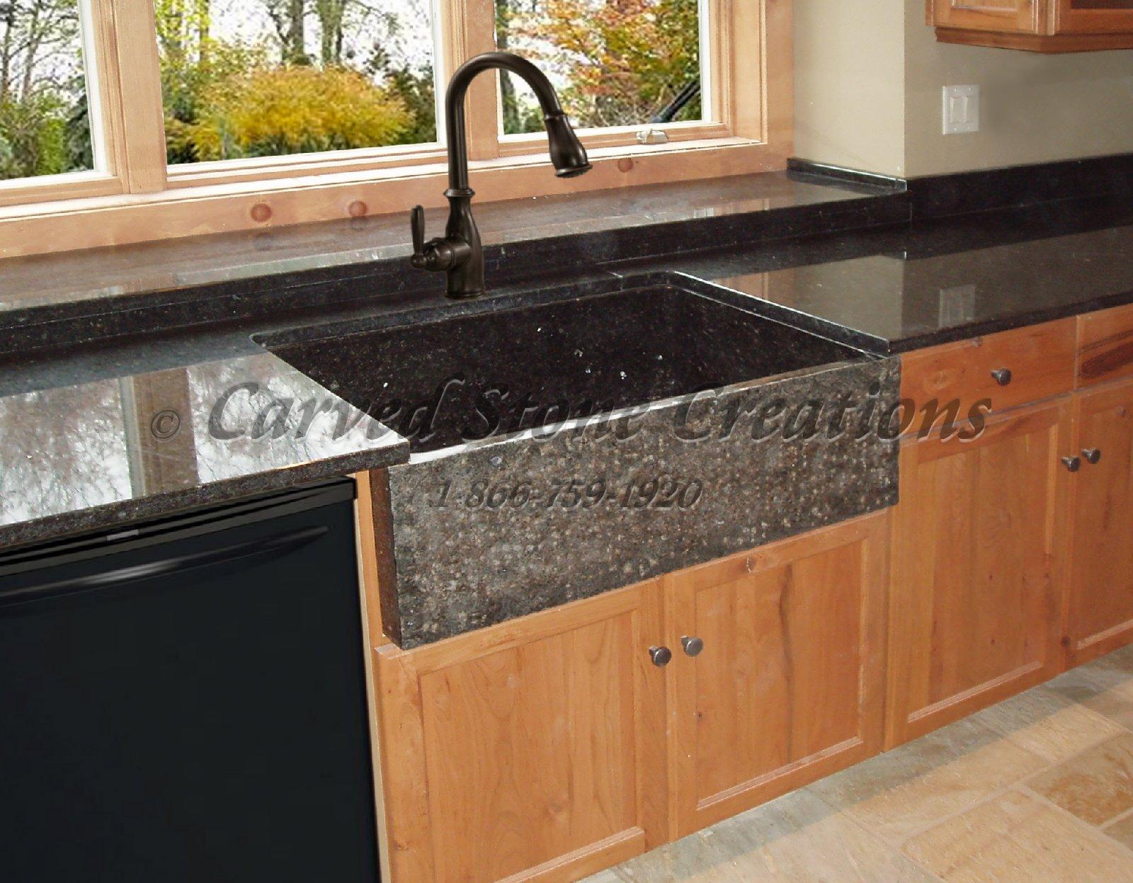 blanco black granite kitchen sink photo - 10