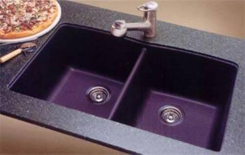 blanco black granite kitchen sink photo - 2