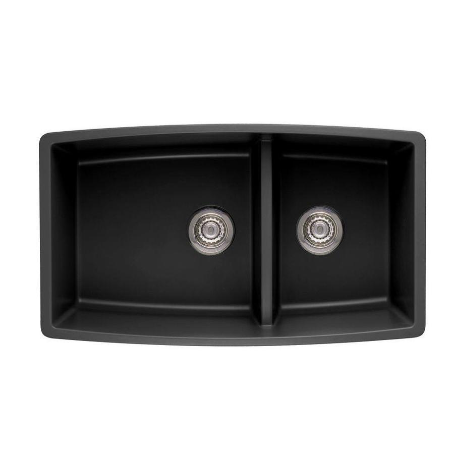 blanco black granite kitchen sink photo - 3