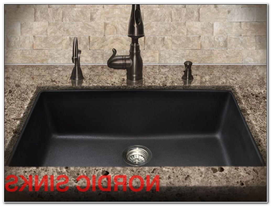 blanco black granite kitchen sink photo - 9