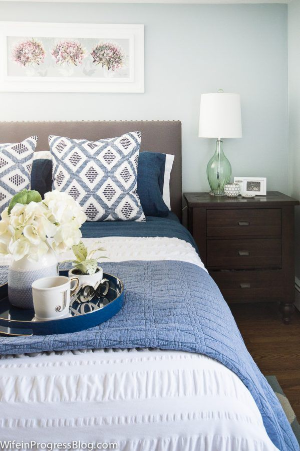 Amazing Blue And White Bedroom Accessories Photo   9